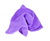 Purple microfiber cloth. Stock Image