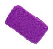 Purple microfiber sponge on white background Royalty Free Stock Images