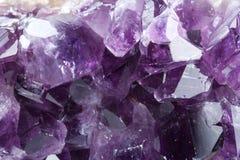 Purple mineral - amethyst Stock Photo