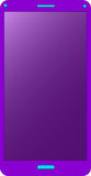 Purple mobile phone Stock Photos