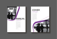 Purple  modern  cover book Brochure template, design, annual  Royalty Free Stock Images