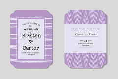 Purple modern invitation. vector decorative square frame. Greeting card Stock Photo