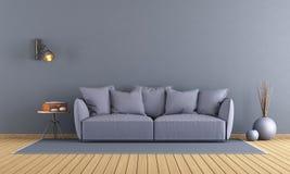 Purple modern lounge Royalty Free Stock Image