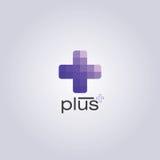 Plus design. Purple monochromatic color design Stock Photos