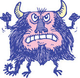 Purple Monster Royalty Free Stock Image