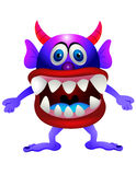 Purple  monster Stock Photography