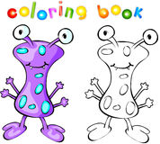 Purple monster coloring book Royalty Free Stock Photography
