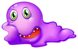 A purple monster Royalty Free Stock Image