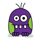 Purple monster Royalty Free Stock Photos
