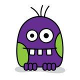 Purple monster. Little scary violet monster, vector illustration vector illustration