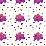 Purple monsters Royalty Free Stock Photography