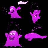 Purple monsters Royalty Free Stock Images