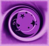 Purple moon Royalty Free Stock Photography