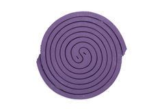 Purple mosquito spiral coil. Royalty Free Stock Photos