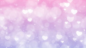 Purple Mothers Day Background with Particles, Sparkles and Hearts. Hearts, sparkles and particles seamless moving down. Perfect to use in motion graphics