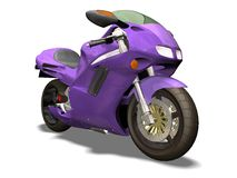 Purple motorbike Royalty Free Stock Image