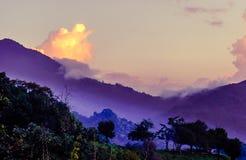 Purple mountain landscape in Minca Stock Image