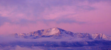 Purple Mountain majesty on Psudo Canvas Royalty Free Stock Image