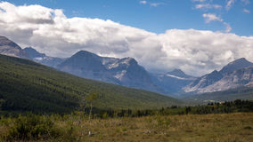 Purple Mountains next to Lower Two Medicine Lake Royalty Free Stock Photo