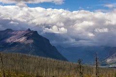 Purple Mountains next to Lower Two Medicine Lake Stock Photos