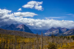 Purple Mountains next to Lower Two Medicine Lake Stock Photography