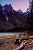 Purple mountains. Rocky mountains glowing purple in the sunset Royalty Free Stock Photo