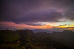 Purple Mountains at twilight Stock Photos