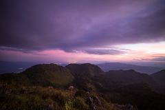 Purple Mountains at twilight Stock Photography