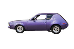 Purple muscle car. Restored purple muscle car on white Stock Image