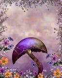 Purple mushroom Royalty Free Stock Photo
