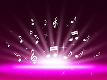 Purple Music Backgrond Shows Singing Melody And Pop Royalty Free Stock Images