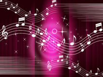 Purple Music Background Means Melody And Tune. Purple Music Background Meaning Melody And Tune Royalty Free Stock Photos