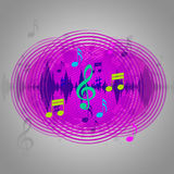 Purple Music Background Shows CD Record Or Pop Royalty Free Stock Photo