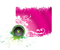 Purple musical banner Stock Photography