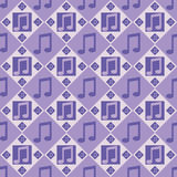 Purple musical notes pattern Stock Photos