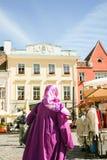 Purple Muslim Royalty Free Stock Image