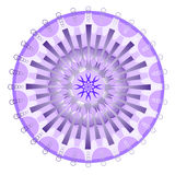 Purple mystery mandala Stock Images