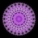 Purple mystery mandala for meditation training Royalty Free Stock Images