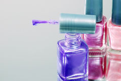 Purple nail polish Stock Photos