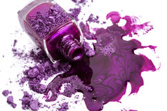 Purple nail polish Royalty Free Stock Images
