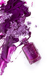 Purple nail polish Royalty Free Stock Photography