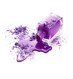 Purple nail polish with eye shadow Royalty Free Stock Images