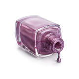 Purple nail polish Stock Photos