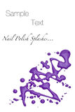 Purple nail polish splashes Stock Photo