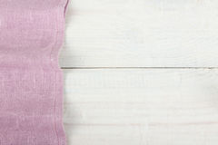 Purple  napkin Stock Images