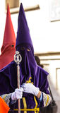 Purple Nazareno with a Jesus Cane Stock Photography