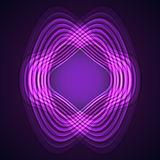 Purple neon distortion circles on black backgroтв Royalty Free Stock Photos