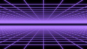 Purple neon grid loop