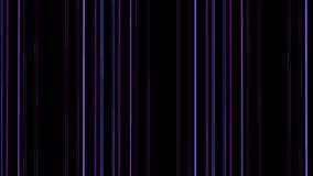 Purple neon lines motion with blinks. Looped animation. Striped background. stock footage
