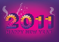 Purple new year 2011. Background template for multiply use vector illustration